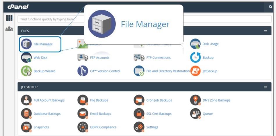 فایل منیجر محل نگه داری فایل ها و پوشه های وردپرس